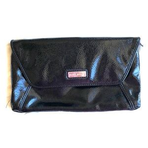 Black faux leather Nine West clutch